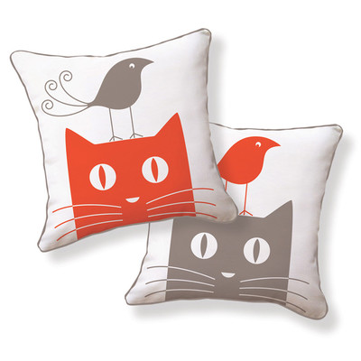 Naked-Decor-Cat-and-Bird-Double-Sided-Cotton-Pillow