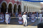 Sunday dancing on the main square.