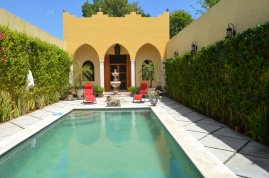 Another home we looked at. Picture is taken from the main house looking over the pool to the master bedroom. Enchanting.