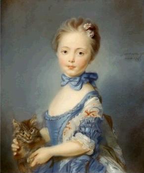 Girl with a Kitten, Jean-Baptiste Perronneau