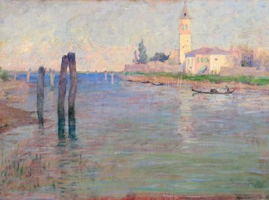 The Gondolier, Venice - Guy Rose 1894