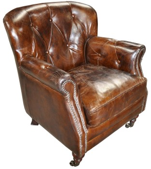 stuffed leather chair