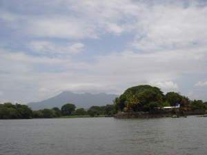 Lake Nicaragua with Mombacho in the background.