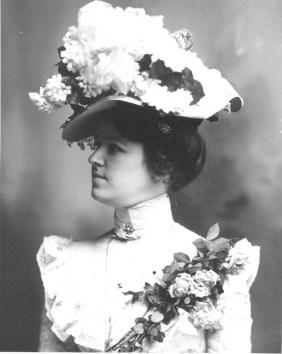 Large floral hat
