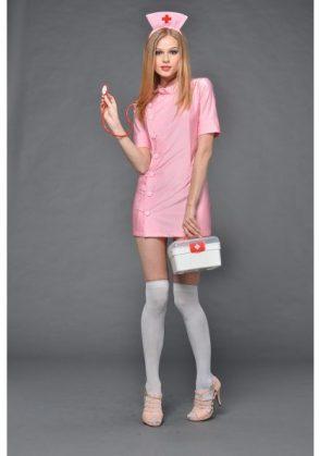 sexy pink nurse