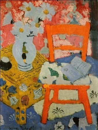 Still Life with Orange Chair